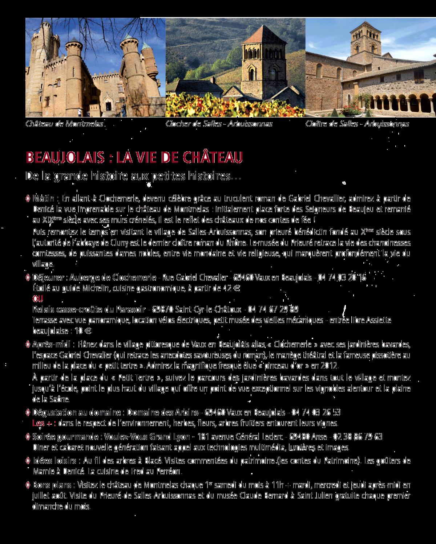 Visiter les châteaux du Beaujolais